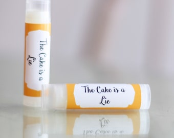 All Natural The Cake is a Lie Lip Balm