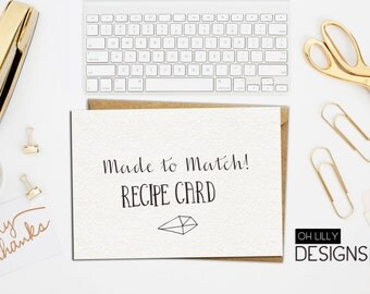 Made to Match - Recipe card