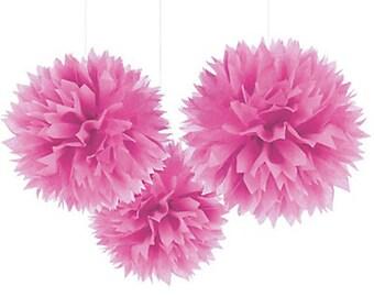 Pink Tissue Pom Pom
