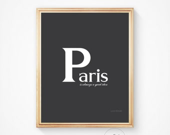 Parisian decor, Typography print, Paris decor, Wall art, Art print, Paris art print Paris wall art Paris Paris art Paris poster, Paris print