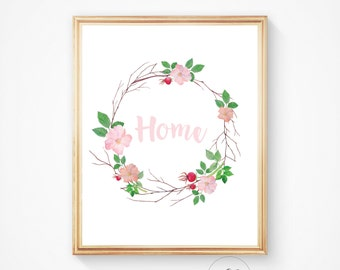 Home sign, home decor wall sign, home print, home art, home wall print, home printable sign, home image, home wall art, home decor