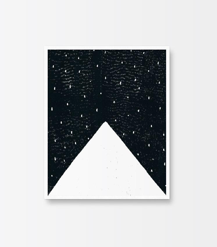 Printable art mountain poster black and white minimalist for Minimal art black and white