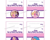 Barbie 3 Inch Party Favor Toppers – Digital Download – Candy Bag Toppers - Barbie Party