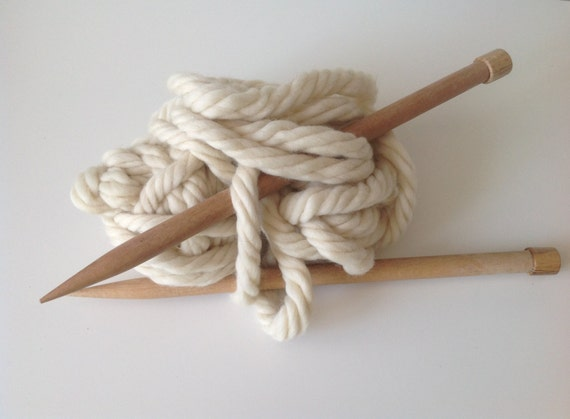 Knitting Chunky Yarn On Small Needles : Thick wooden needles for super chunky by