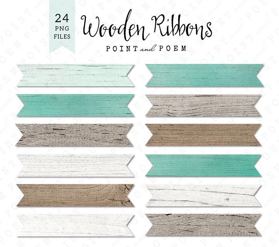 Wood Ribbon Banner Clip art Labels White wood Rustic Wood