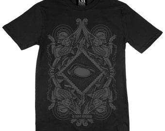Blind -  Pharoah T-shirt - Charcoal on Black