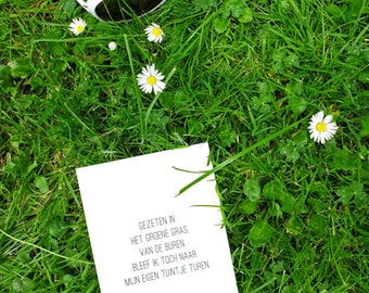 Postcard poetry-green grass