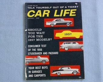 Car Life Magazine, January 1956, Studebaker, Carports, Dressed For Driving