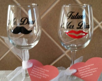 Mr. & Future Mrs. Wine Glasses