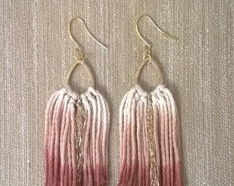 Bengala dye metal drop motif Earrings