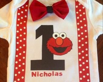 Elmo birthday shirt or bodysuit