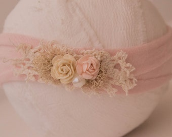 Newborn Photography Prop Headband {Dreamy Rose}