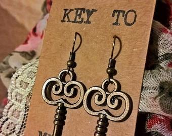 Key to My Heart Earring