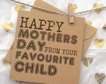 Mother's Favourite - Greetings Card