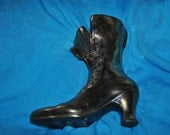 "Victorian Shoe Match HOLDER or Door Stop 9"" Vintage"