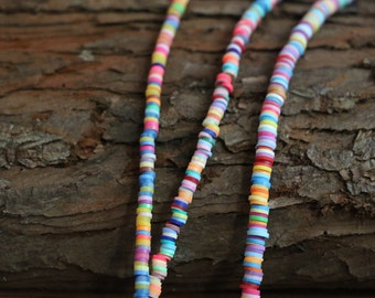 Full Strand 44cm-Cute Colorful Beads Polymer Clay Rondelle Bead,Round Fimo Bead,Wheel Bead,Spacer Bead,Loose Necklace Bracelet Beads