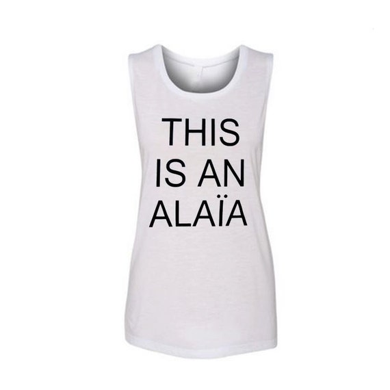 This Is An Alaia LADIES tank tops, Flowy Muscle Tank, Workout Tank Top, Workout Shirt, Cute Workout Tank, Activewear, Funny Shirt, Yoga Tank