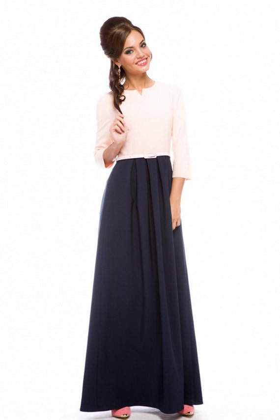 formal maxi s dress dress flared skirt by playfashion