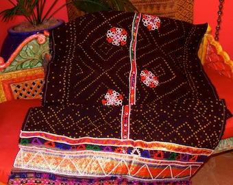 SALE#  Ludaki Shawl Tribal Rabari Gypsy India Tie-Dye And Embroidery Weddings, Ceremonies