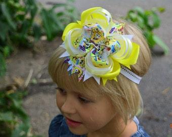Hair bows  Infant Toddler bows Baby girl bows Bow hair clip Sponge bob Bow Hairbows Baby bows Girls hair bows Bow hair clip Sponge bob party