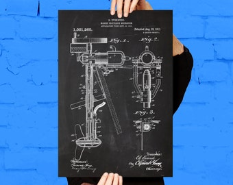 Outboard Motor Print, Outboard Motor Patent, Outboard Motor Print, Nautical Decor, Gifts for Boaters, Boating Art, Boat Decor, Boat Art