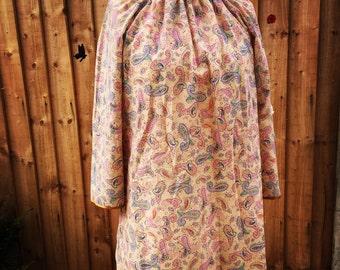 Paisley print 70s style dress