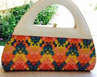 Vintage Purse with floral fabric