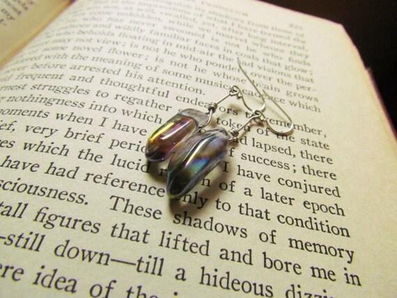 Angel aura crystal earrings
