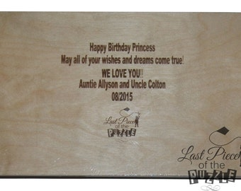 Engrave A Special Message On Your Puzzle