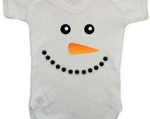 """Baby Grow - Christmas Edition """"Snowman"""" - Christmas Gift -  Baby Grow / Baby Bodysuit / Christmas Baby Vest"""