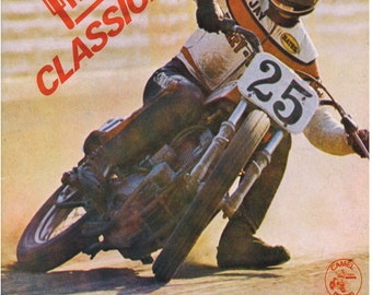 Full Hoiuse Classic Flat Track Motorcycle Vintage Reproduction Racing Poster