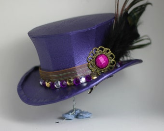 Jazzy Purple Mini Top Hat