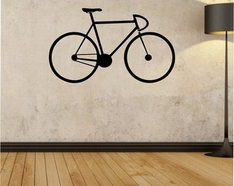 Bicycle Bike riding Vinyl Wall Decal Sticker Art Decor Bedroom Design Mural