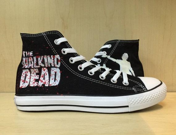 the walking dead custom converse converse by monicacustomshop