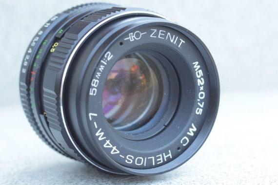 MC Helios-44M-7 2/58 M42 (Copy CZJ Biotar 2/58) Lens Zenit Pentax Praktic N73