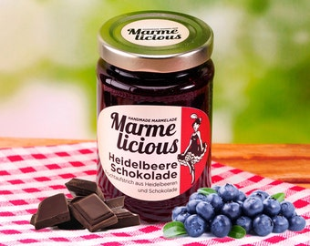 Blueberry chocolate fruit spread