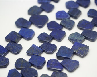 Full strand Natural Lapis Lazuli Top Drilled Slab Beads Pendants Jewelry Bulk,Raw Lapis Gemstones Slice Beads Charms Necklaces Supplies