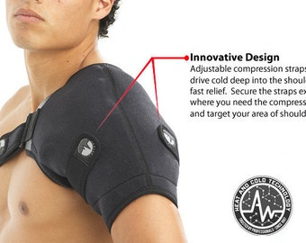 Thermal compression therapy for the shoulder Ice and Heat in one confortable Wrap