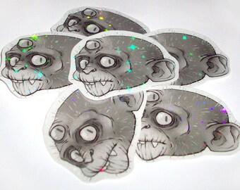 Sparkly Mystic Monkey Sticker 3 pcs