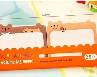 Cute Kawaii Korean Stationery BEAR Sticker Notes