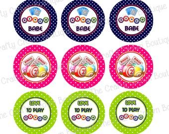 """Bingo Queen ~ INSTANT DOWNLOAD 4x6 Digital 1"""" Inch Bottle Cap Image Digital Collage Sheet ~ CCB"""