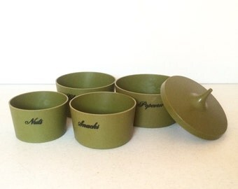 Vintage Nesting Snack Canisters