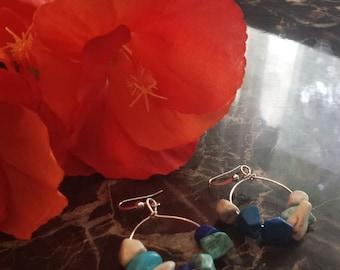 SeaBlue Rock Earrings
