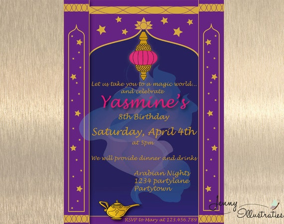 Arabian Nights Invitation Arabian Nights by JennyIllustrations