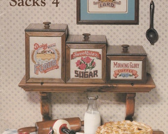 Cross Stitch Book - Crates & Sacks 4 - Country Cross Stitch Pattern Book