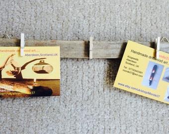 Driftwood hanging pegs photos/cards/notes (item 20)