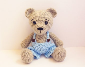 PATTERN : Bear-teddy -Amigurumi bear pattern-Bear -Classic Bear-Crochet - doll-toy - baby shower