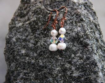 Rosegold Freshwater Pearl Earrings