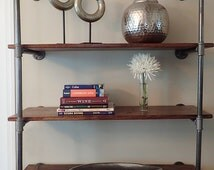 Industrial Pipe Shelving Unit - Wall Mounted