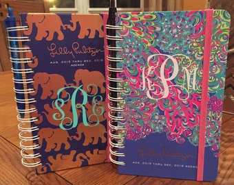 Monogram Decal for Notebooks, Planners & Folders